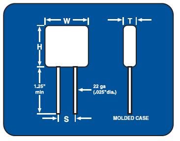 200C High Voltage Capacitor / High Temp Capacitor
